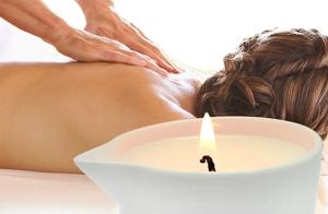 Masaje con vela orgánica + ictioterapia