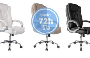 Sillón de oficina elevable y reclinable