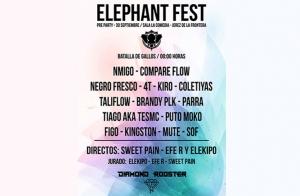 Entrada para batalla de gallos Elephant Fest